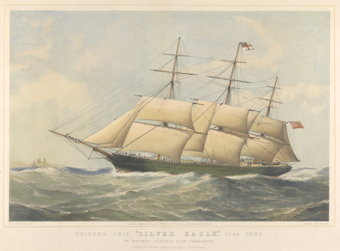 Thumbnail image of a 19th century sailing ship