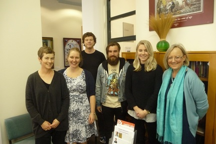 Fiona Cliff, Rebecca Lenihan, John McLellan, Angus Crowe, Samantha Hunt and Charlotte Macdonald